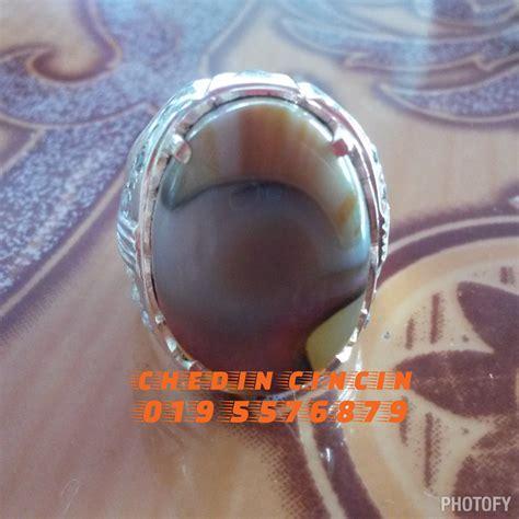 Batu 60 Akik Sumbawa Bulan Sabit batu permata cincin perak keris besi lama syiling lama tasbih dan gelang teras kayu cincin