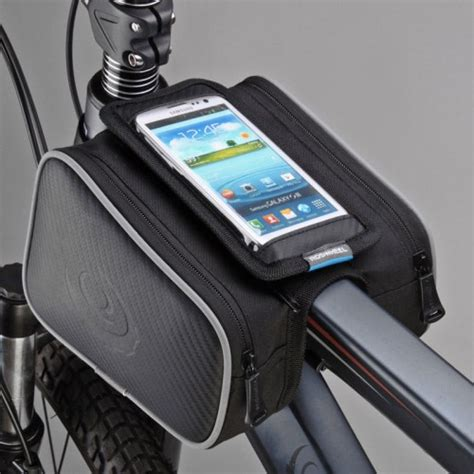 Torch Light Mount Holder For Bicycle Pe roswheel bike frame bag w phone pouch
