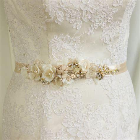 bridal belt bridal sash wedding belt chagne bridal