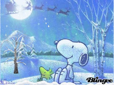 snoopy  woodstock awaiting santa claus picture  blingeecom