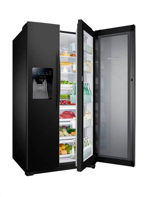 samsung refrigerator 24 7 cu ft side by side samsung 24 7 cu ft side by side refrigerator in black
