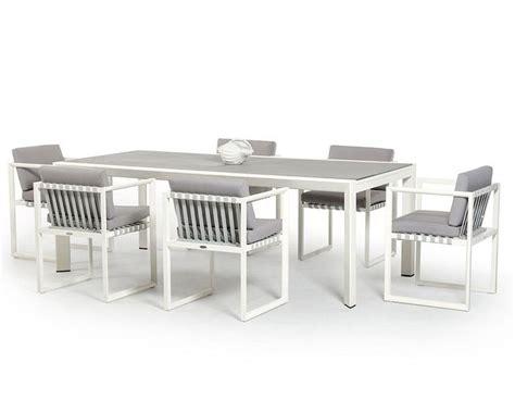 contemporary patio dining set contemporary outdoor white dining set 44p211 set