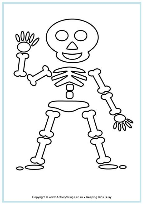 skeleton coloring pages halloween skeleton coloring pages