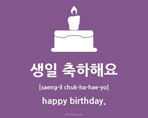 Happy Birthday Wishes In Korean Image Gallery Happy Birthday In Korean