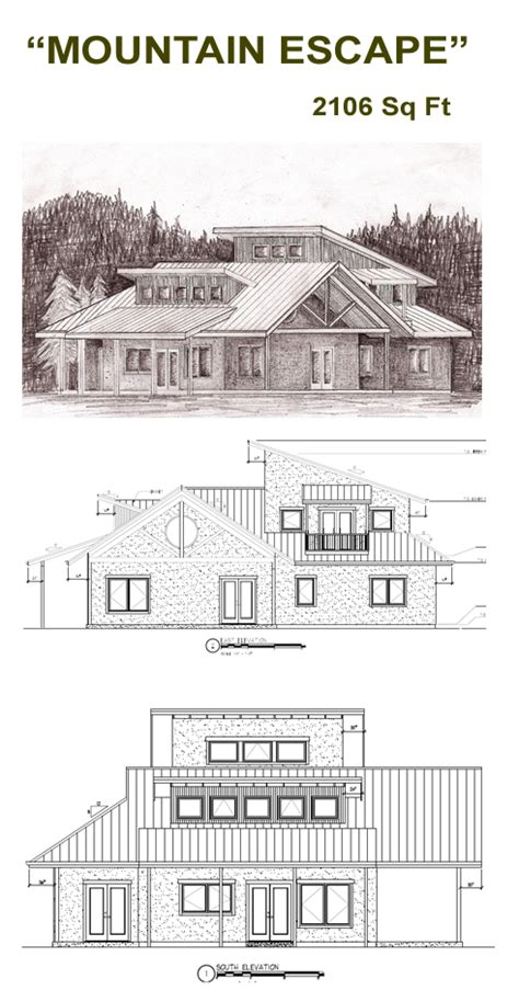 straw bale home plans mountain escape straw bale plans strawbale com