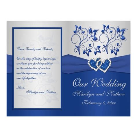 Blue Gold Wedding Card Template by Royal Blue And Silver Floral Wedding Invitations