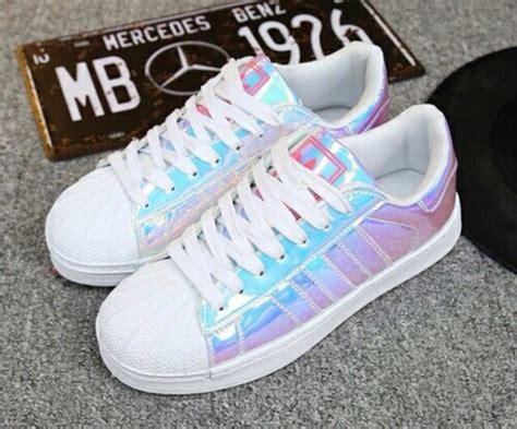 shoes metallic adidas shoes holographic shoes adidas superstars adidas wheretoget