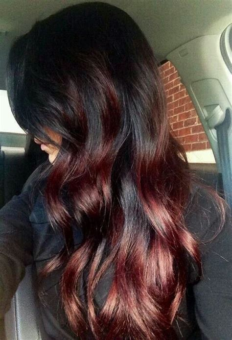 cherry cola hair color images cherry cola highlights projects to try pinterest