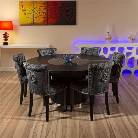 large  black oak dining table    black