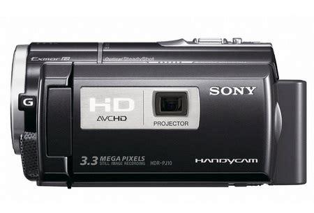 Handycam Sony Projector Pj10 sony handycam hdr pj50v hdr pj30v and hdr pj10 hd camcorders with built in projector