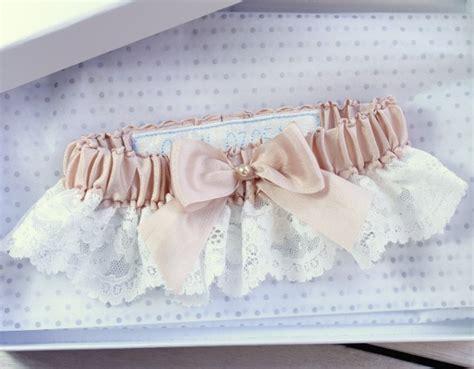 Handmade Garters - personalised garters weddings special touch
