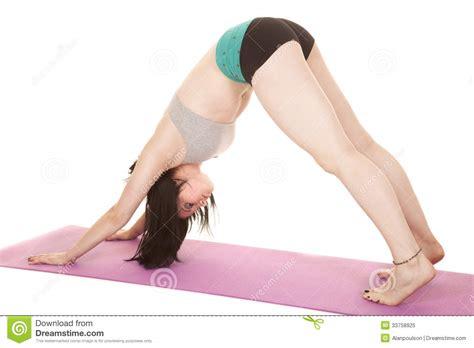 downward position shorts sports bra royalty free stock photo image 33758925