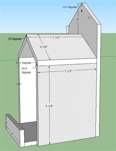 open box robin bird house plans bird houses feeders