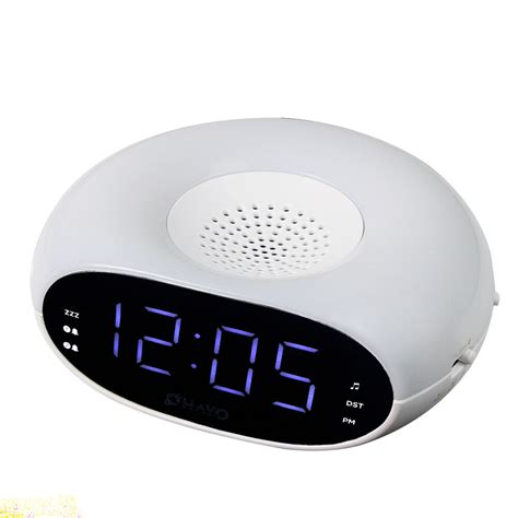 digital table dual alarm clock fm radio light sleep timer snooze dst ebay