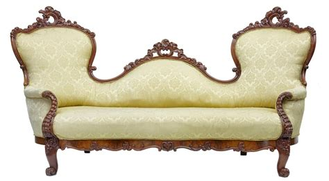 victorian sofas and chairs 19th century carved mahogany victorian sofa