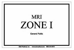 Floor X Ray by Mri Zone 1 Sign For 20 00