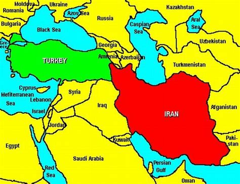 middle east map the years iran turkey and israel new global realities
