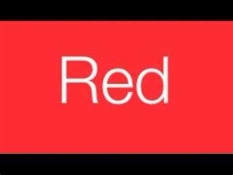 color songs for kids red color youtube red color song youtube