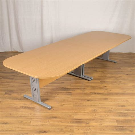 Beech Boardroom Table Beech 3400x1200 Boardroom Table Bt97