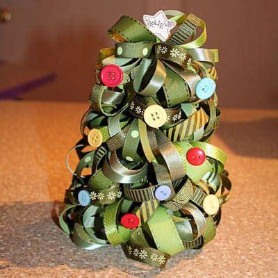 ribbon christmas tree craft xmas pinterest