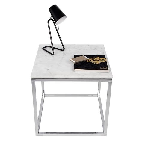 white and chrome desk prairie white chrome marble end table by temahome eurway