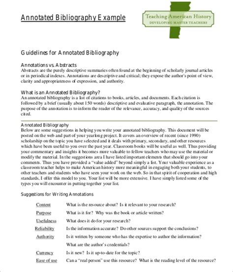 Apa Annotated Bibliography Template Doc