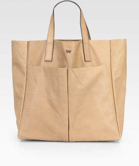 Anya Hindmarch Large Nevis Tote by Anya Hindmarch Nevis Leather Tote Bag In Beige Lyst