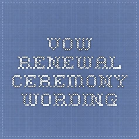 Wedding Vows Renewal Words by Best 25 Vow Renewal Ceremony Ideas On Vowel