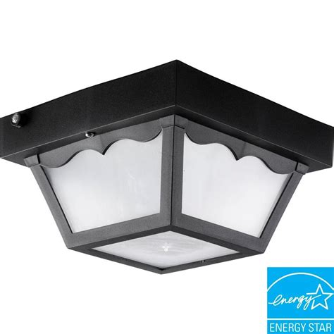 Polycarbonate Outdoor Lighting Progress Lighting Polycarbonate Collection 1 Light Black Outdoor Flushmount P7340 31wb The