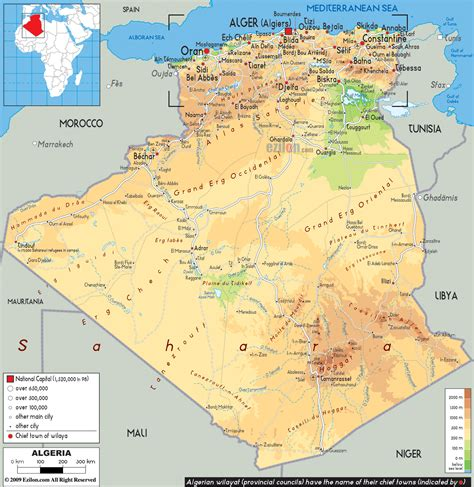 africa map algeria maps of algeria map library maps of the world
