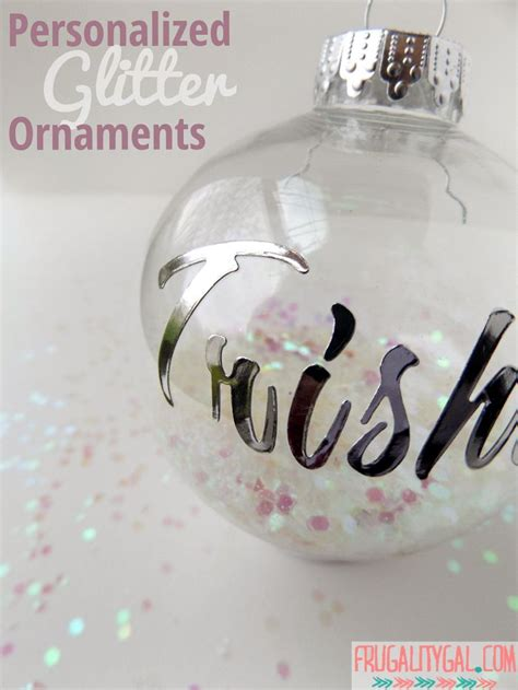 make your own personalized diy glitter ornaments in less