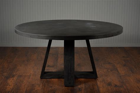 round concrete dining round concrete and elm cross dining table mecox gardens