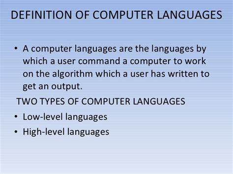 layout meaning in computer language computer languages ppt