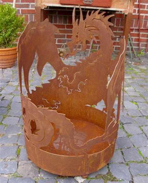 Feuerschale Hoch by Garten Feuerschale Feuerkorb Quot Dragonheart Quot Drache
