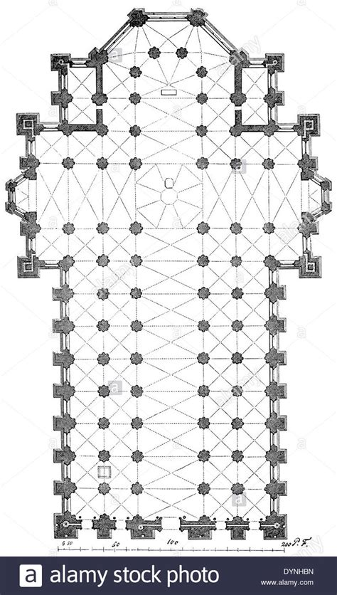 Milan Cathedral Floor Plan | milan cathedral plan stock photo royalty free image