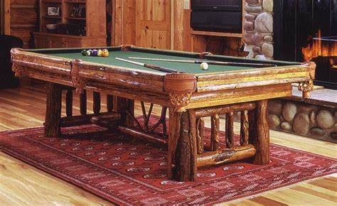 rustic and western pool tables and game tables