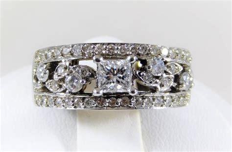 Handmade White Gold Rings - handmade white gold dinner ring for sale at 1stdibs