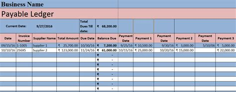 accounts payable ledger template accounts payable excel template exceldatapro