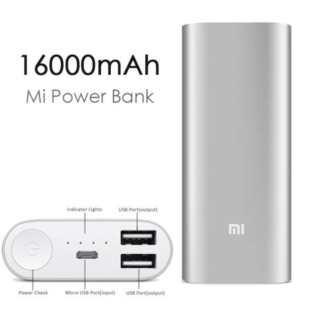 Power Bank Xiaomi 16000 la batterie xiaomi power bank 16000 mah digiac