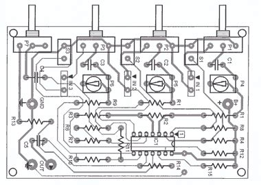 Rangkaian Mixer Audio audio mixer 3 channel sederhana dan murah kre tips diy