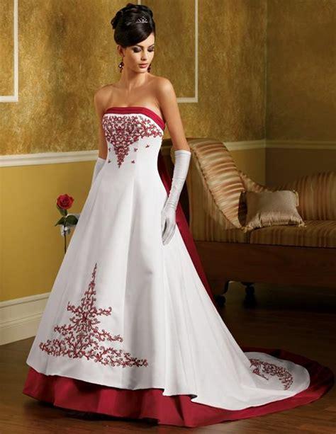 imagenes de vestidos de novia con detalles rojos vestidos de boda blanco y rojo