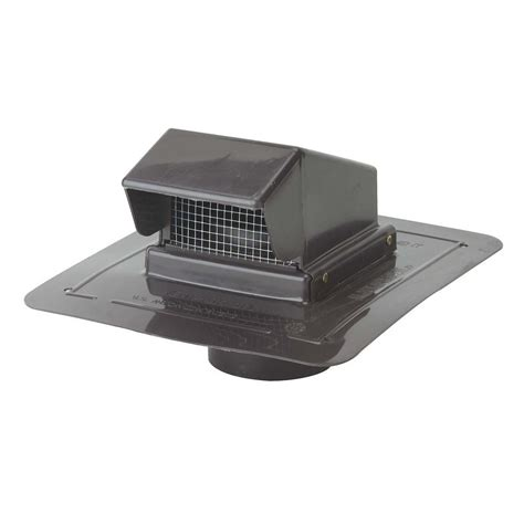 construction metals 4 in plastic roof cap vent prcs4dbr