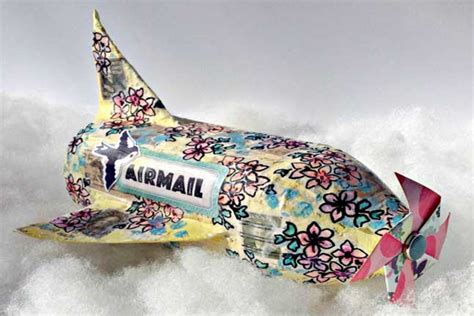 How To Make A Paper Mache Airplane - paper mache airplane from recycled bottle crafts for