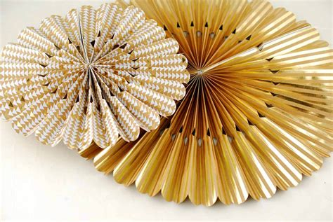Gold Craft Paper - brown and gold paper rosettes