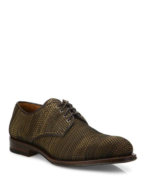 aquatalia sneakers aquatalia vance woven leather derby shoes in brown for