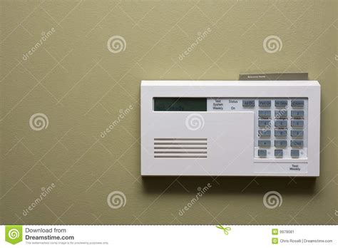 home security panel stock image image 9979081