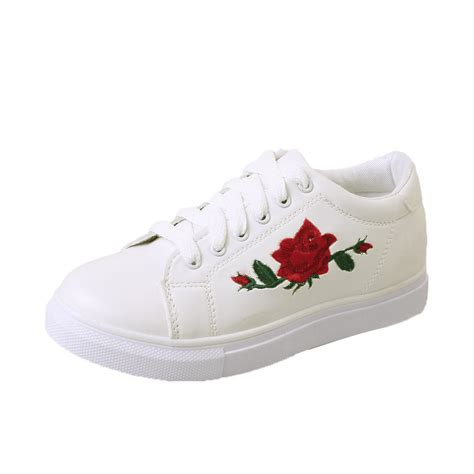 Sneakers Flowers running sneakers embroidery flower shoes okra store