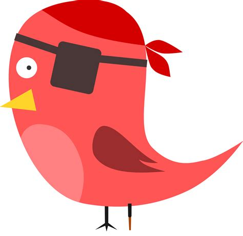 bird clipart pirate bird vector clipart image free stock photo