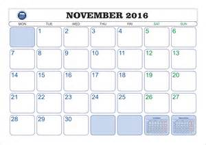 Calendar Template November by 2016 Calendar November Printable 2017 Calendar