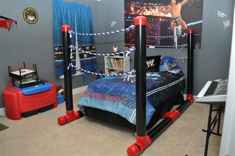 wwe bedroom decor wrestling ring bed made out of pvc pipe jackson s room pinterest pvc pipe pipes and ring